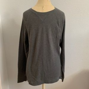 BOGO50%! Gray Club Room Shirt Waffle Long Sleeve